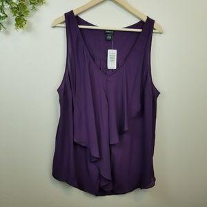 Torrid • NWT Purple Flowy Tank Top